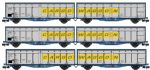 Revolution Trains  NIZA-2301  Original livery Cargowaggon twin sets – triple pack - N Gauge